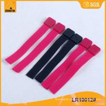 Custom Rubber Zipper Puller With Woven Tape LR10012