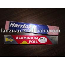 envelopper de papier d'aluminium coloré