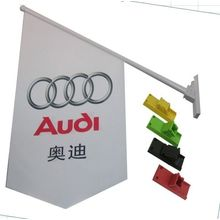 Banderas delanteras impresas doble del lado de la tienda del PVC