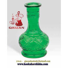 Medium Size Emerald Green Hookah Bottle Wholesale