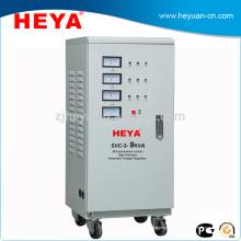 Stabilisateur de tension automatique à trois phases à pleine puissance 9KVA, stabilisateur de servomoteur