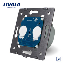 Livolo Norme EU Interrupteur À Distance Sans Panneau De Verre En Cristal Applique Murale Interrupteur Tactile Sans Fil + Indicateur LED VL-C702R