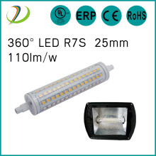 UL CUL lista led r7s 135mm 12w dimmable r7s lámpara