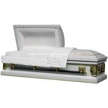Regal blanc pureté 20ga cercueil d'acier