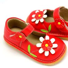 Rote Sonnenblume Baby Squeaky Schuhe Mädchen