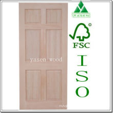 Porte en bois d'intérieur de panneau du pin 6 radial d'usine