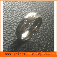 Jewelry Fashion 3 Stones Stainless Steel Finger Ring