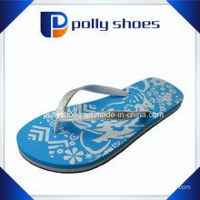 Women′s Flip Flop Sandals Palm Trees Size Large 9/10 Nwt