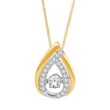 Oro plateado 925 colgantes de plata Joyería Dancing Diamond