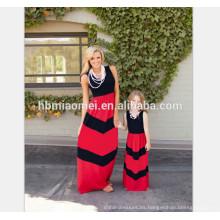 2017 venta caliente del verano largo mamá y yo vestimos ropa boutique