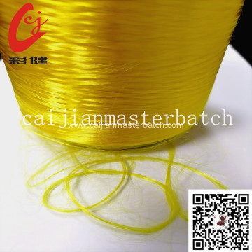golden PET polyester silk masterbatch