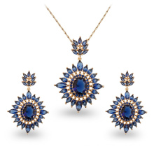 Wuzhou Foxi Hot Sale 18k Gold Copper Zircon Jewelry Sets