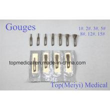 Cuchillas dentadas Cuchillas quirúrgicas