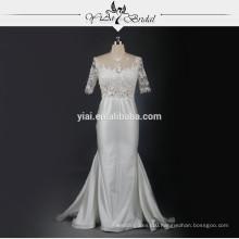 RSW739 Transparent Corset Fishtail Sexy Indian Wedding Dress