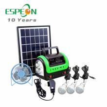 Neueste DC Solar Home System tragbare Solarleuchten Kits für Afrika Radio MP3 Fan für Option