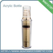 Botella de empaquetado de la impresión de la pantalla de seda Botella de empaquetado de acrílico colorida de lujo Botella de acrílico