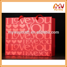 Manufacturer bags shopping bag with logo for christmas gifts item