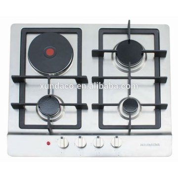 3 Gas Hob dengan One Hot Plate