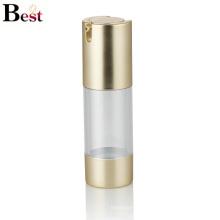 Alibaba meilleurs vendeurs 30 ml de luxe d'or bouteille de lotion sans air bouteille pompe pour crème, lotion, liquide de base