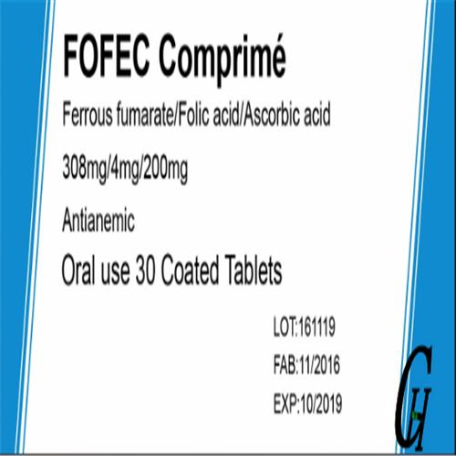 Folic Acid & Ferrous Sulfate & VC Tablets