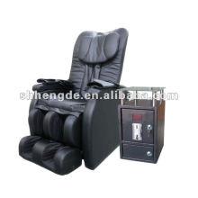 Fauteuil de massage à bon marché de luxe avec tirelire externe
