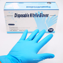 Luvas de nitrilo de boa qualidade, seguras para alimentos
