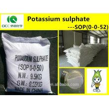 NPK / Fertilizante / SOP (0-0-52) / Sulfato de potasio / Sulfato de potasa, alta calidad -lq