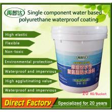 Revêtement liquide / peinture imperméable de polyuréthane de composant simple (PU) pour le balcon
