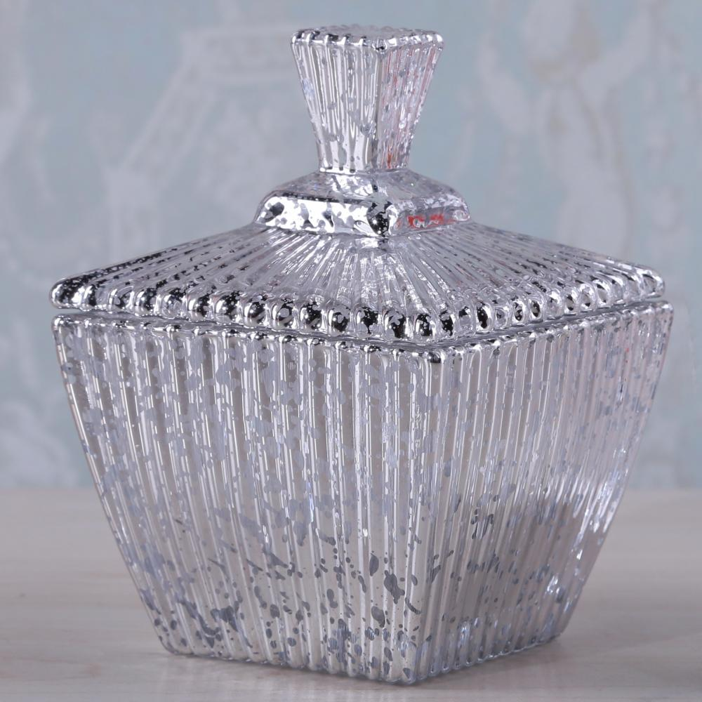 Br 1706 1square Glass Candy Jar Of Mercury Effectclear
