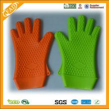 LFGB & FDA largo silicona resisten guantes de cocina