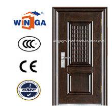 Holz Braun Farbe Sicherheit Eisen Metall Stahl Tür (WS-115)