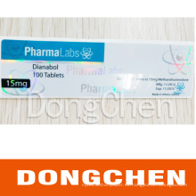Impresión de la etiqueta farmacéutica de Enanthate Vial de la prueba farmacéutica del holograma del laser de la prenda impermeable