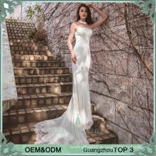 Einfache elegante Brautkleider Hochzeitskleid Brautparty Kleider Fisch schneiden Braut Kleid