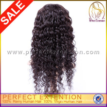 5a Grade Cheap Deep Wave Brazilian Hair Silk Top Full Lace Wigs Wholesaler