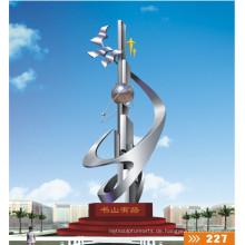 2016 Neue große Edelstahl-Skulptur Hohe Quanlity Moderne Stadt Statue