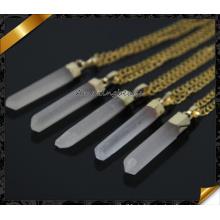 2015 Mode Rock echte Kristall Quarz Anhänger Halskette Druzy natürlichen Stein Kristall Halsketten für Frauen (CN007)