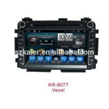 Quad core Android 4.4 Mirror-lien TPMS DVR 1080P voiture système de navigation multimédia pour HONDA VEZEL / HR-V avec GPS / Bluetooth / TV / 3G