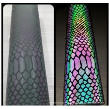 vinil reflexivo colorido de transferência de calor do arco-íris para a roupa