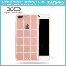 Caso de telefone de capa traseira brilhante suave TPU para iPhone 7 iPhone 7 Plus
