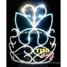 Flor de cristal de cor azul borboleta princesa tiara