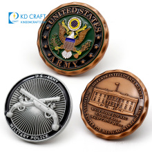 Manufacturer cheap custom embossed 3d metal die casting enamel personalized decorative antique challenge novelty coin
