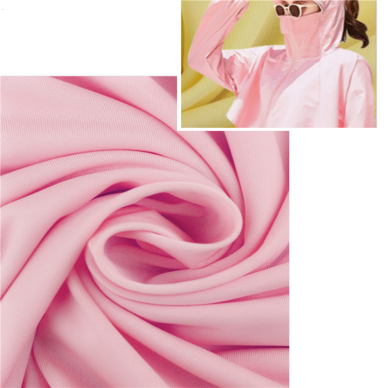 Smooth Dyed Plain Knitted Ice Silk Fabrics For Mask