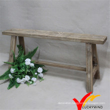 Crafted Hand Carved Aged Old Wood Chinese Stool