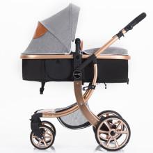 Carrinho de Bebê Deluxe com Rodas Giratórias e Alça Ajustável e Bolsa de Transporte Grátis
