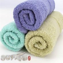 Hausgebrauch bunte Jacquard Satin Baumwolle weichen Bad Handtuch-Set