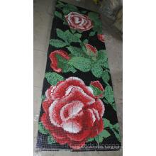 Flower Pattern Glass Mosaic Pattern Wall Tile (HMP802)