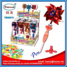 Heißer verkaufender Windmühle-Vogel-Kugelschreiber Shantou-Spielzeug mit Süßigkeit
