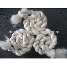 Top 100% fibre de soie Cachemire super fin blanc