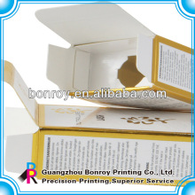Caja de perfume Embalaje de caja de cosméticos con papel de aluminio