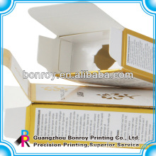 Perfume Box Packaging of Cosmetic Carton with Foil Work